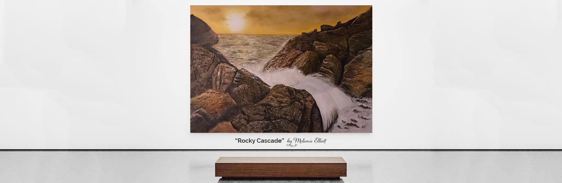 Rocky Cascade by Melanie Elliott