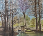 Autumn Reflections by Melanie Elliott. Large original oil painting.