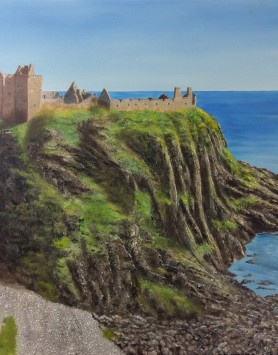 Castle Climb by Melanie Elliott. Large original oil painting.
