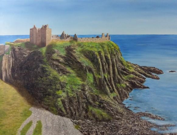 Castle Climb by Melanie Elliott. Large original oil painting.