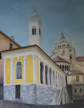 Chiesa Pace by Melanie Elliott. Large original oil painting.