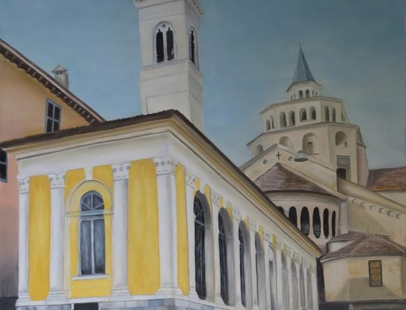 Chiesa Pace by Melanie Elliott. Large original oil painting.