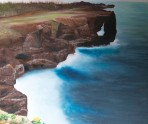 On the Edge by Melanie Elliott. Large original oil painting.