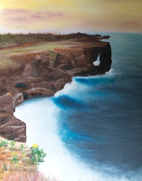 On the Edge by Melanie Elliott. Large original oil painting.
