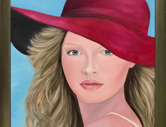 Pink Persuasion by Melanie Elliott. Large original oil painting.