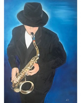 Sax Man A5 Greeting Card