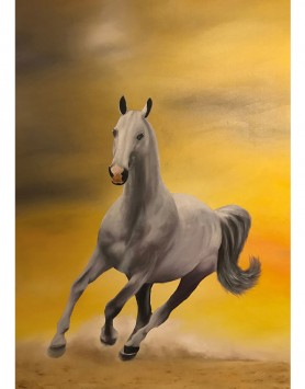 Sunrise Stallion A5 Greeting Card