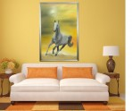 Sunrise Stallion by Melanie Elliott. Large original oil painting.